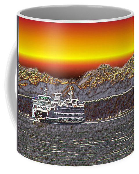 Seattle Coffee Mug featuring the photograph Cruisin The Sound by Tim Allen