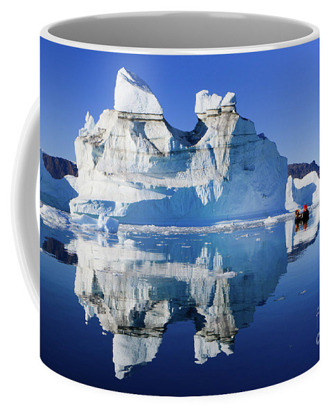 Cruising Coffee Mug featuring the photograph Cruising Between The Icebergs, Greenland by Henk Meijer Photography
