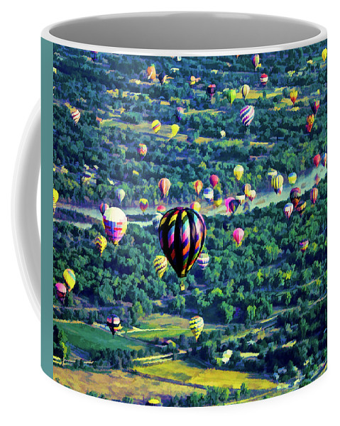 New Mexico Coffee Mug featuring the photograph Cruising Over The Rio Grande by Positive Images
