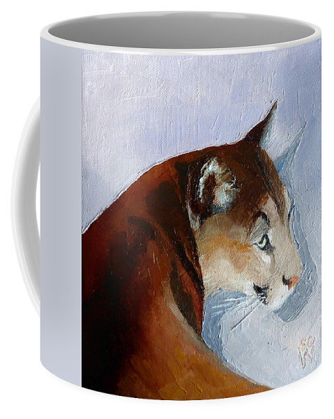 Oil Painting Of Mountain Lion Coffee Mug featuring the painting Cruz 2 by Susan Woodward
