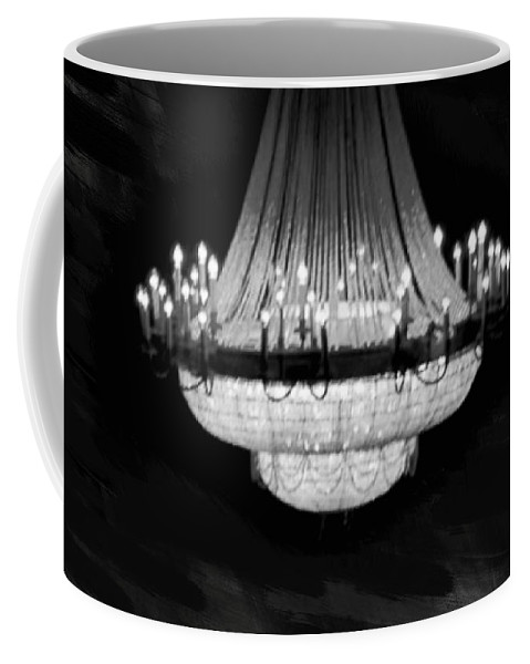 Crystal Coffee Mug featuring the painting Crystal Chandelier by Art Spectrum