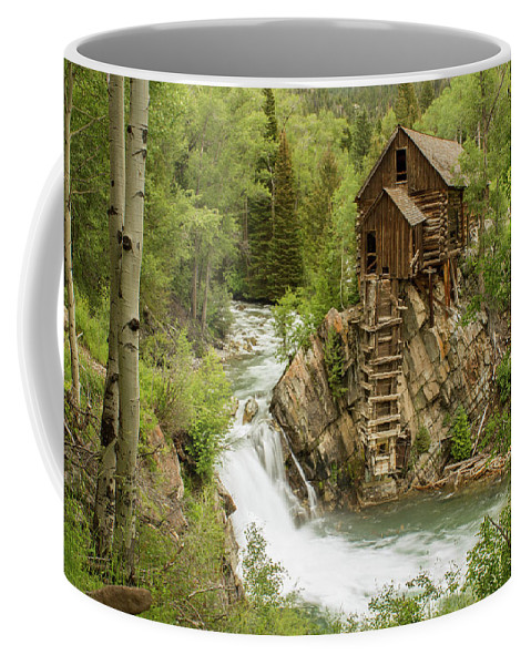 Colorado Coffee Mug featuring the photograph Crystal Mill In July by Debbie Rudd