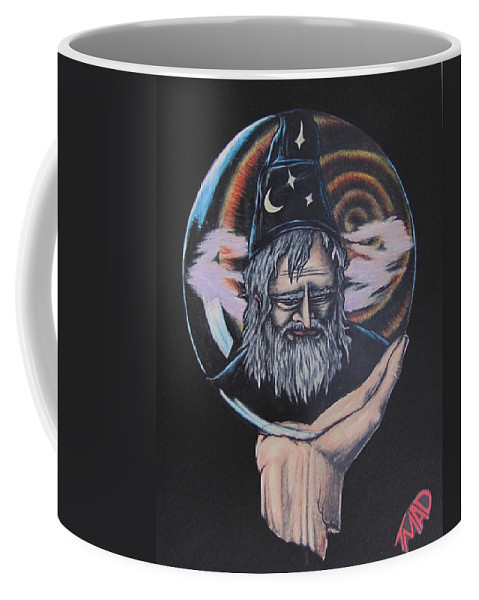 Michael Finney Coffee Mug featuring the drawing Crystal Wizard by Michael TMAD Finney