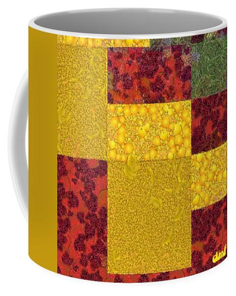 Digital Art Coffee Mug featuring the digital art Cubism by Dragica Micki Fortuna