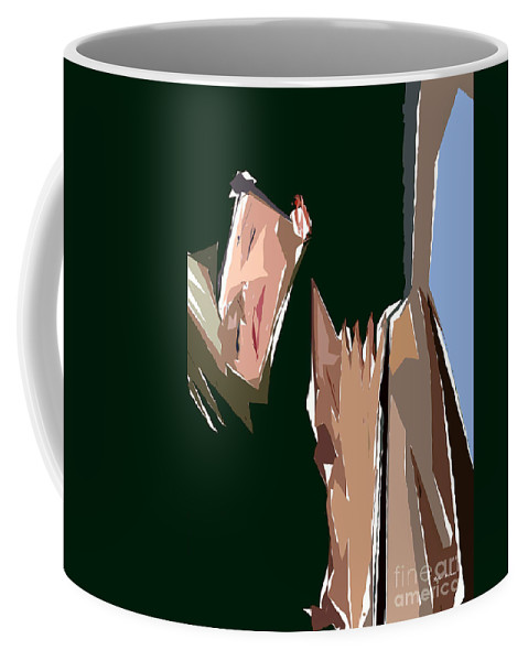Female Coffee Mug featuring the digital art Cubism Series Xiii by Rafael Salazar