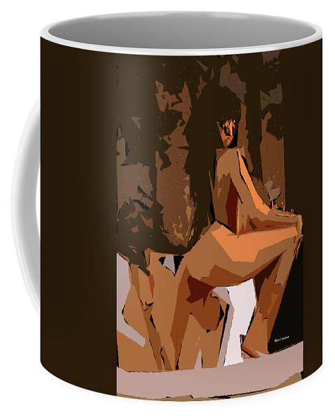 Female Coffee Mug featuring the digital art Cubism Series Xix by Rafael Salazar