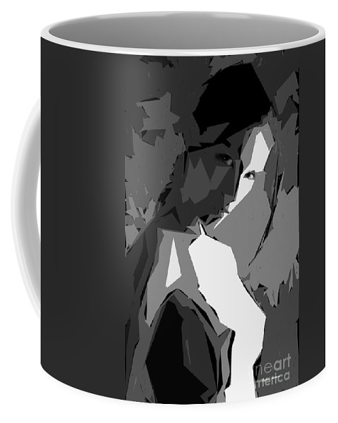 Female Coffee Mug featuring the digital art Cubism Series Xv by Rafael Salazar