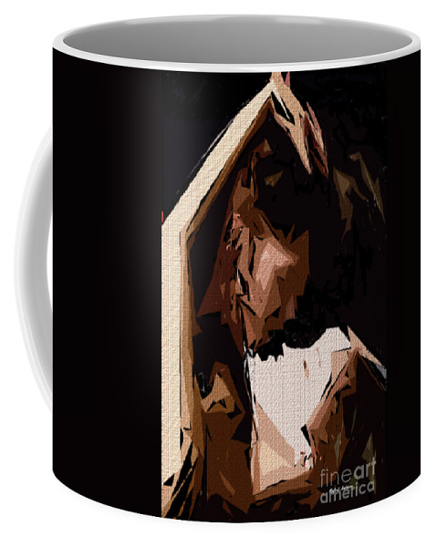 Female Coffee Mug featuring the digital art Cubism Series Xxv by Rafael Salazar