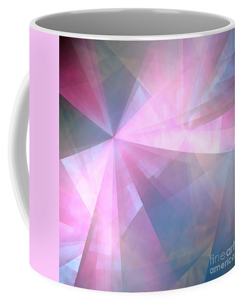 Abstract Coffee Mug featuring the digital art Cubist Background by Yali Shi