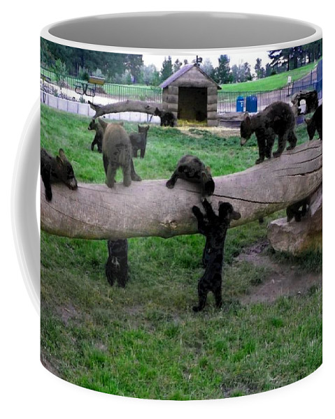 Bears Coffee Mug featuring the photograph Cubs At The Playground by Charleen Treasures