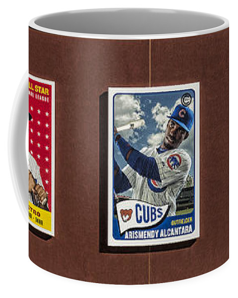 Baseball Coffee Mug featuring the photograph Cubs Card Collection by Stephen Stookey