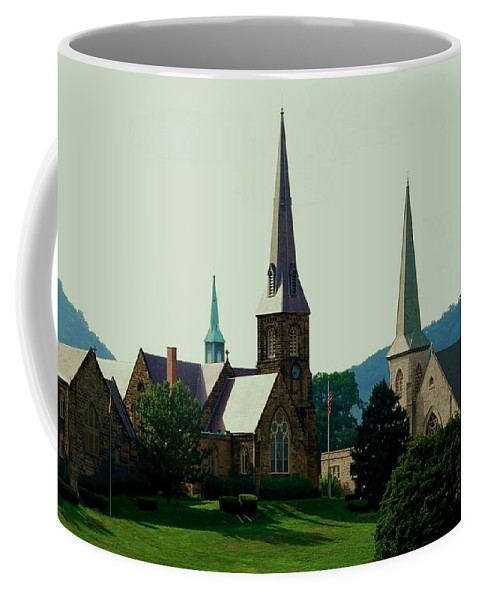 Church Steeples Coffee Mug featuring the photograph Cumberand Steeples by Eric Liller
