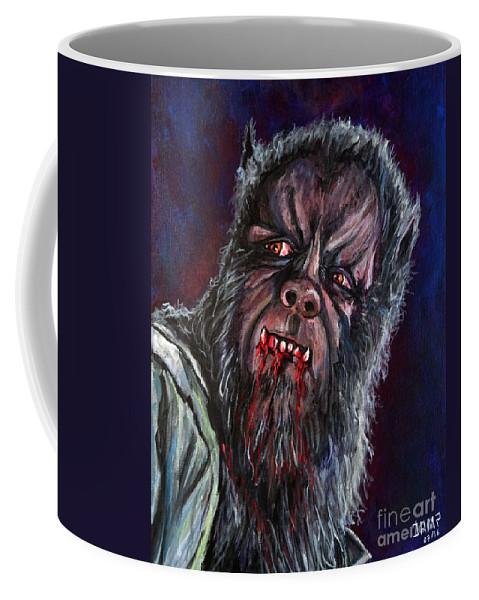 Curse Of The Werewolf Coffee Mug featuring the painting Curse Of The Werewolf by Jose Mendez