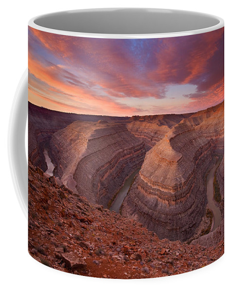 Canyon Coffee Mug featuring the photograph Curves Ahead by Mike Dawson