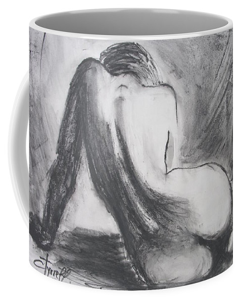 Curves Coffee Mug featuring the painting Curves12 by Carmen Tyrrell