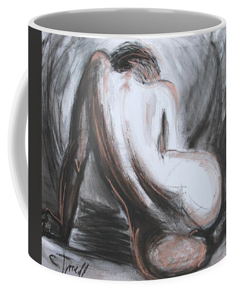 Curves17 Coffee Mug featuring the painting Curves17 by Carmen Tyrrell
