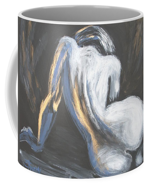 Curves18 Coffee Mug featuring the painting Curves18 by Carmen Tyrrell