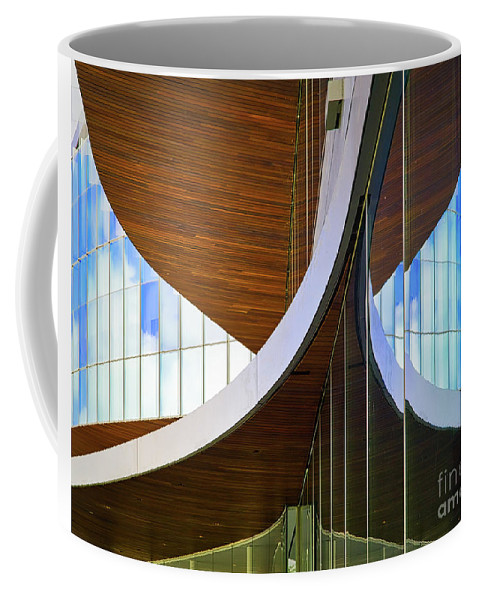 Chicago Coffee Mug featuring the photograph Curving Reflections by Izet Kapetanovic