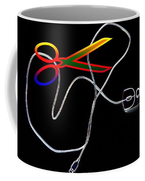 Internet Coffee Mug featuring the photograph Cut The Mouse by Riccardo Maffioli