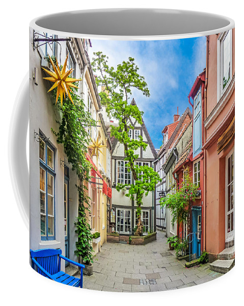 Alley Coffee Mug featuring the photograph Cute And Colorful European Houses by JR Photography
