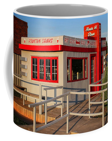 Oklahoma Route 66 Diner Coffee Mug featuring the photograph Cute Little Route 66 Diner by Buck Buchanan