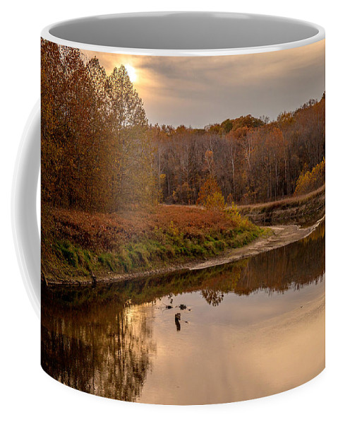 Cuyahoga Valley National Park Coffee Mug featuring the photograph Cuyahoga Valley Autumn Sunset by J Allen