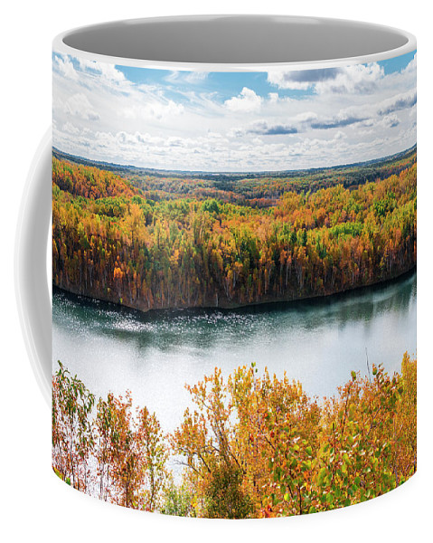 Autumn Coffee Mug featuring the photograph Cuyuna Country State Recreation Area - Autumn #2 by Patti Deters
