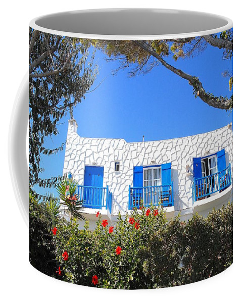 Photography Coffee Mug featuring the photograph Cycladic Architecture - 4161 by Panos Pliassas