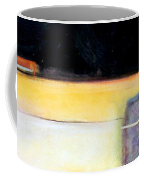 Abstract Coffee Mug featuring the painting D-bird Lightening Bug by Marlene Burns