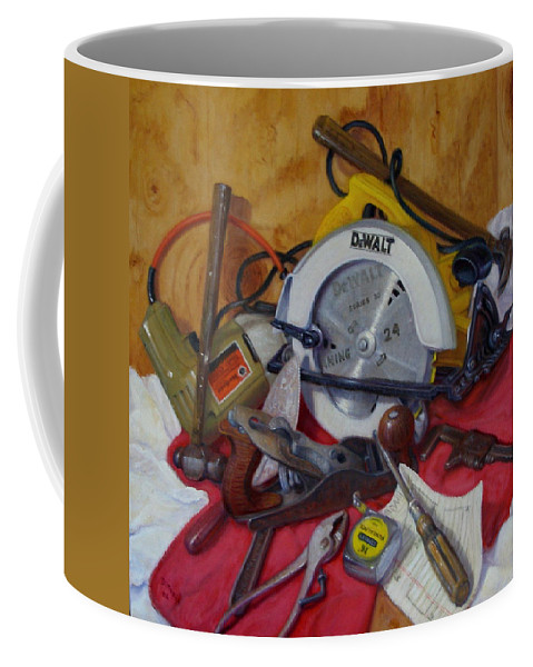Realism Coffee Mug featuring the painting D. I. Y. 2  by Donelli DiMaria