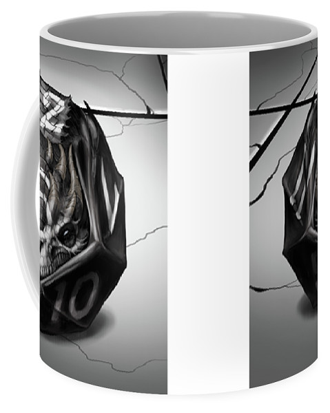 Beautiful D12 Coffee Mug Featuring The Digital Art D12 Dragon By Stanley Morrison