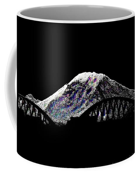 Mount Rainier Coffee Mug featuring the digital art Da Mountain And Stadia by Tim Allen