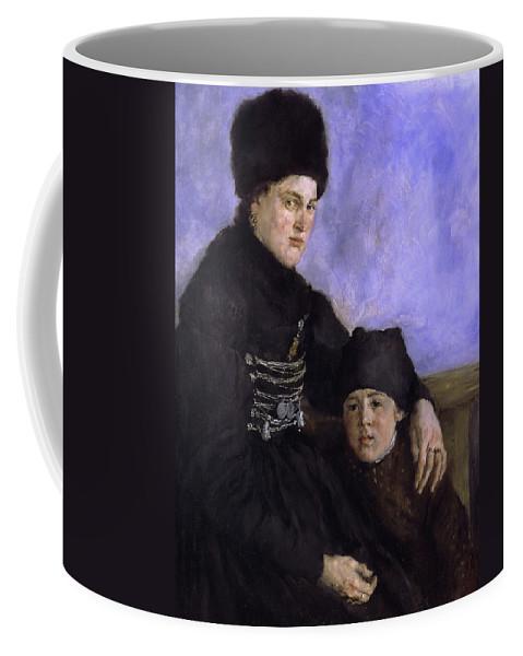 Wilhelm Leibl Coffee Mug featuring the painting Dachau Woman And Child by Wilhelm Leibl