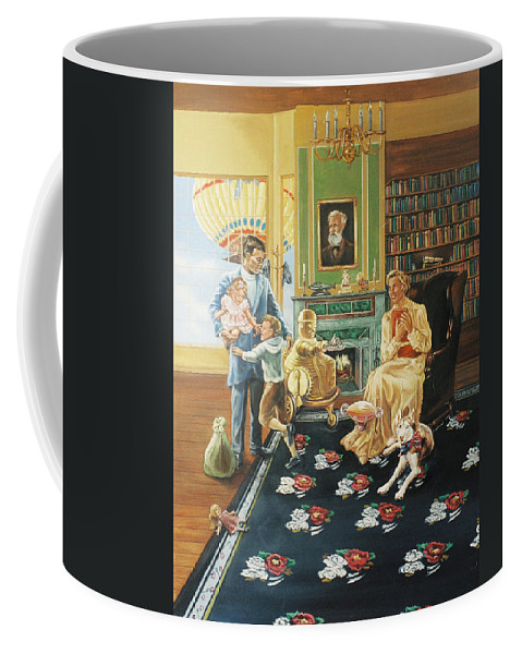 Fantasy Coffee Mug featuring the painting Daddys Home by Bryan Bustard