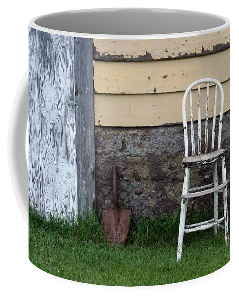 Chair Coffee Mug featuring the photograph Dads High Chair by Lauri Novak