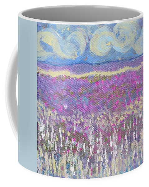 Landscape Coffee Mug featuring the painting Daffodil Days by Jacqui Hawk