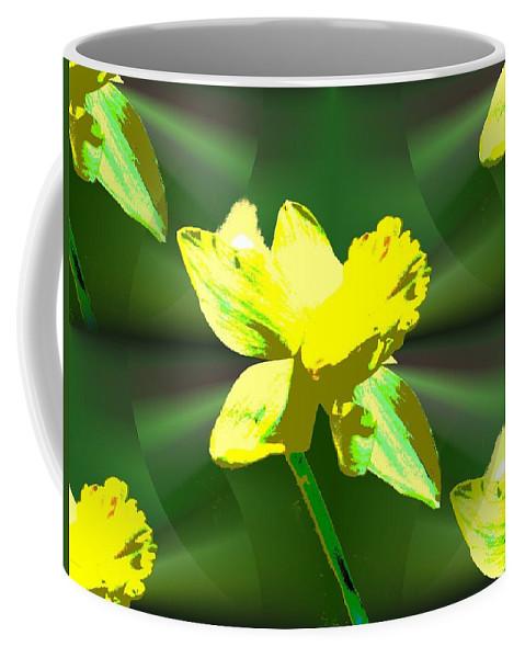 Daffodil Coffee Mug featuring the digital art Daffodil Delight by Tim Allen