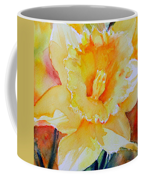 Daffodil Coffee Mug featuring the painting Daffodil by Ruth Harris