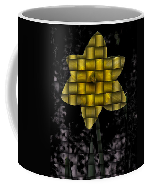 Daffodil Coffee Mug featuring the photograph Daffodil Weave by Tim Allen