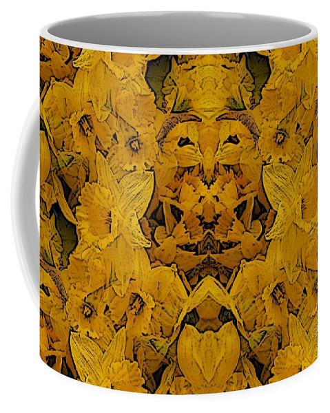 Daffodil Coffee Mug featuring the digital art Daffy Daffodils by Tim Allen