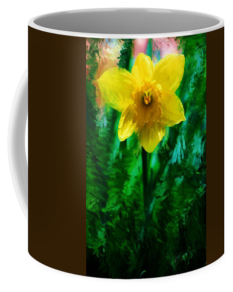 Abstract Coffee Mug featuring the photograph Daffy Dill by David Lane