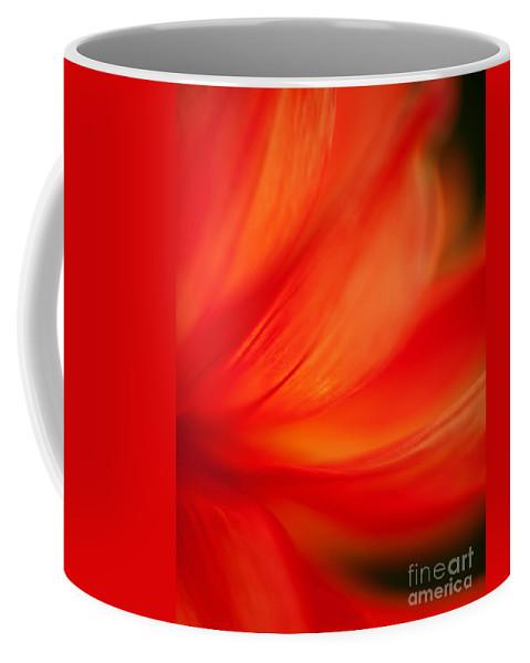 Dahlia Coffee Mug featuring the photograph Dahlia On Fire by Mike Reid