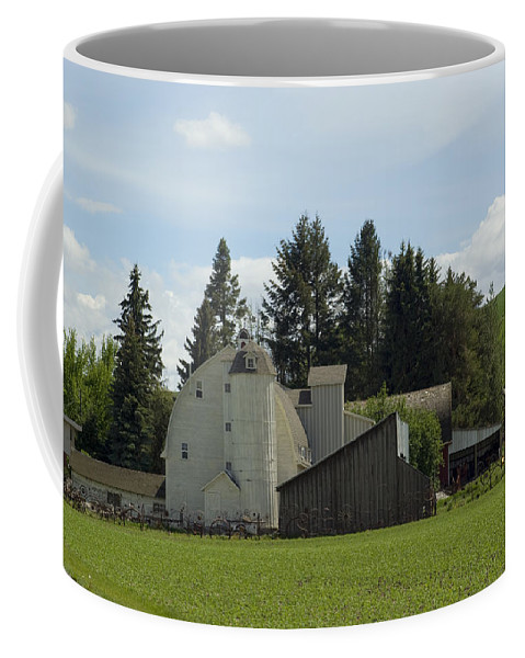 Barn Coffee Mug featuring the photograph Dahmen Barn Historical by Louise Magno
