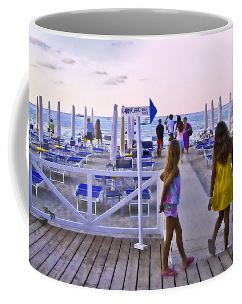 Mondello Beach Coffee Mug featuring the photograph Daily Ticket Aka Giornaliero by Madeline Ellis