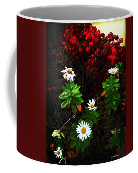 Daisies Coffee Mug featuring the digital art Daisies At The Boathouse by Joan Minchak