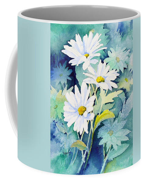 Flowers Coffee Mug featuring the painting Daisies by Sam Sidders