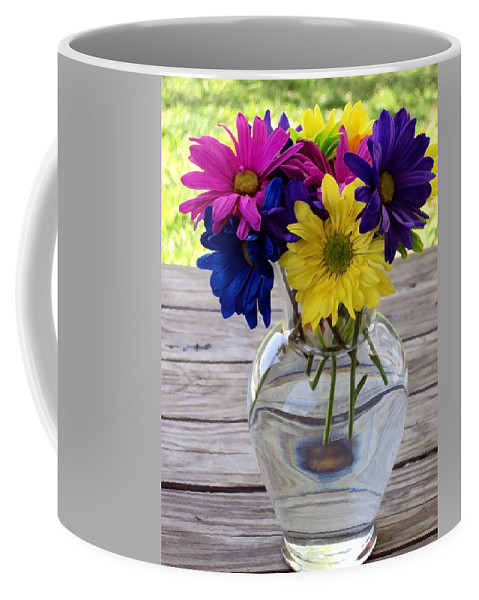 Daisy Crazy Coffee Mug featuring the photograph Daisy Crazy by Angelina Tamez