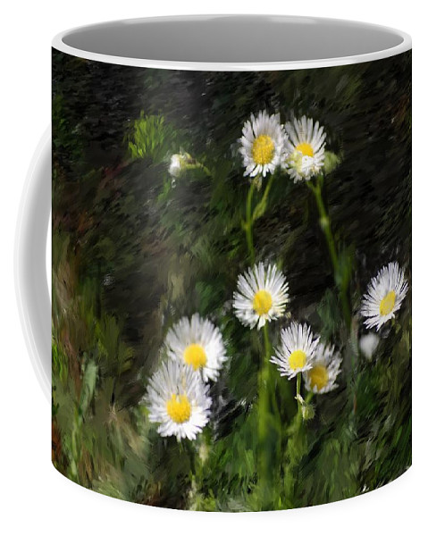 Digital Photograph Coffee Mug featuring the photograph Daisy Day Fantasy by David Lane