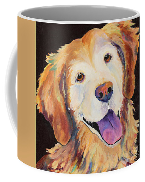 Pet Portraits Coffee Mug featuring the painting Daisy by Pat Saunders-White