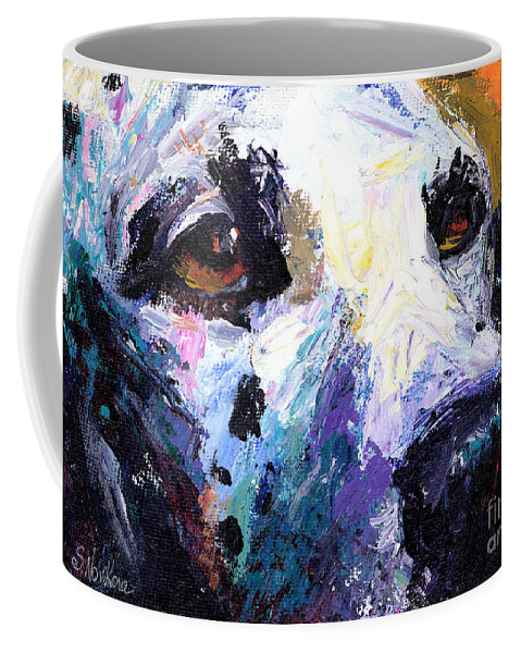 Dalmatian Painting Coffee Mug featuring the painting Dalmatian Dog Painting by Svetlana Novikova
